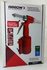 Arrow Pneumatic Rivet Tool for Aluminum/Steel/Stainless w/4 Rivet Head Sizes