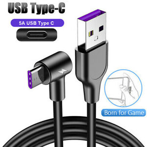 5A Fast Charging Charger Data Cable for Huawei P20 P30 Pro Lite Type C USB 1-3M