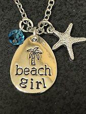 "Beach Girl Dream of Sea Charm Tibetan Silver 18"" Necklace D237"