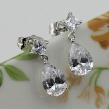 Cubic Zirconia Alloy Pear Costume Earrings
