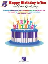 """""""HAPPY BIRTHDAY TO YOU"""" AND OTHER GREAT FIVE-FINGER PIANO SHEET MUSIC SONG BOOK"""
