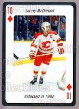 2006 Hockey Hall Of Fame Playing Card #49 Lanny McDonald