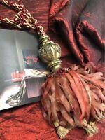 "Beautiful Silk Interlined Curtains 86"" d x 28"" Pleated Width per Curtain"