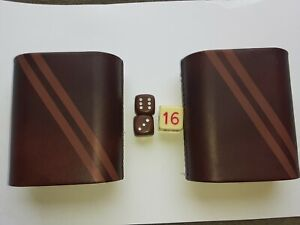 Vintage Backgammon Replacement Dice Cups 3 dices