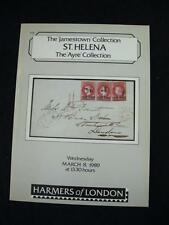 HARMERS AUCTION CATALOGUE 1989 ST. HELENA THE 'JAMESTOWN' & 'AYRE' COLLECTIONS