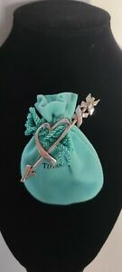 Tiffany & Co Sterling Silver Paloma Picasso Valentine Heart brooch pin