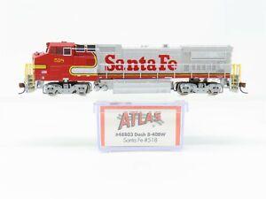 N Scale Atlas 48803 ATSF Santa Fe GE Dash 8-40BW Diesel Locomotive #518