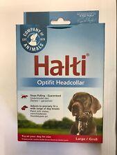 HALTI OPTIFIT HEAD COLLAR LARGE BLACK TO STOP DOG PULLING