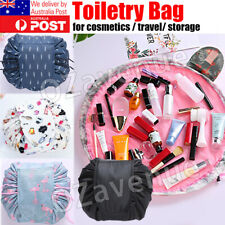 Travel Cosmetic Make Up Bag Organiser Wash Small Drawstring Pouch Beauty Case AU