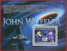 FRENCH GUINEA - ERROR, 2008 MISPERF SHEET: SPACE, John Wheeler, Telecomunication