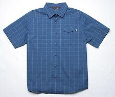 Under Armour Backwater Plaid SS Shirt (L) Blue