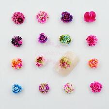 160pcs Imitation Rose Daisy Foral Resin Cabochon DIY Design Nail Art Crafts Deco