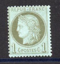 France: 1872 Céres 1c vert olive n° 50 neuf ** côte 100 euros