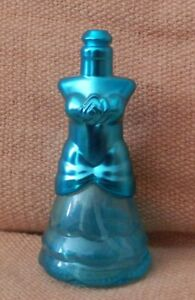 Lovely collectable scent bottle blue dress design (EMPTY)