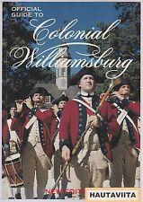 Colonial Williamsburg Virginia Official Historic Guide Revolutionary War US 1812