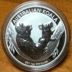 2011 1 OZ SILVER KOALA...BULLION COIN IN CAPSULE..AS NEW.