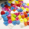 50/100pcs Mix Heart Plastic Buttons For Kid's Sewing Notions Crafts PT51