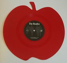 THE BEATLES LOVE ME DO & P.S. I LOVE YOU APPLE RED SHAPED VINYL RECORD MINT