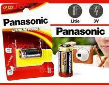 Panasonic LITIO Potenza 3V CR123 batteria (DL123A CR123R DL123A K123LA CR17345)