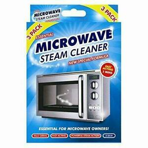 2 in 1 Microwave Steam Cleaner and Freshens Kills Germs Fast Clean Pack of 3