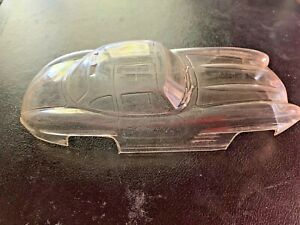 SLOT CAR BDY-0033 ORIGINAL GULL WING MERCEDES THICK PLASTIC VERY RARE