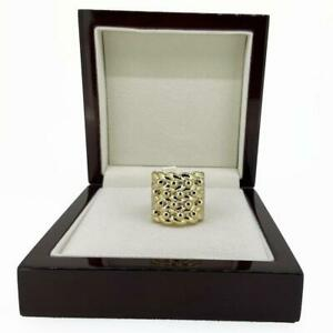 18ct Gold GF Keeper Ring Mens Boys Big Heavy Chunky Large Adjustable Stacking