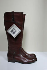 New  7.5 EC Frye Melissa Tab Brown Leather Knee High Riding Low Heel Boots Shoes