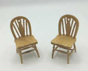 Pair Of Dolls House Kitchen Chairs