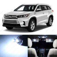 17 x White LED Interior Lights Package For 2014 - 2019 Toyota Highlander + TOOL