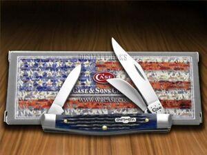 Case xx Med Stockman Knife Rogers Corn Cob Jigged Blue Bone 02806