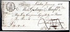More details for messrs goslings & sharpe, 19 fleet street, london, used bearer cheque, 18[37]