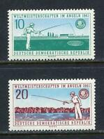 31353) DDR 1961 MNH Fishing World C.3v. Scott #563/64