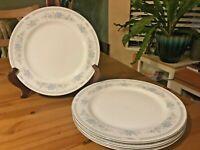 Christine Fine Porcelain China Blue Flowers - Set of 4 Dinner Plates -  Japan
