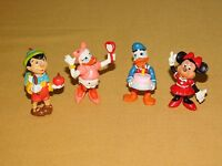 """VINTAGE TOY 4 DISNEY APPLAUSE 2"""" HIGH DONALD DAISY  DUCK MINNIE MOUSE PINOCCHIO"""