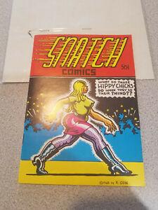 SNATCH COMICS #1  Apex Novelties - UNDERGROUND COMIC by Robert Crumb