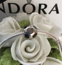 PANDORA STERLING SILVER 'MOTHER OF PEARL HEARTS' CHARM #790398MPB
