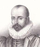 Portrait XIXe Michel de Montaigne Michel Eyquem de Montaigne Renaissance Gavard