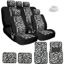 NEW PREMIUM BLACK MESH ANIMAL ZEBRA TIGER PRINT SEAT COVERS MATS FOR VW