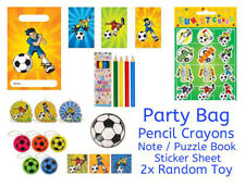 FOOTBALL PRE-FILLED PARTY BAGS Kids Birthday Loot Bag - Includes 2 RANDOM TOYS
