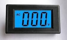 3pcs New 3 1/2 Blue LCD Digital Volt Panel Meter AC 80-500V