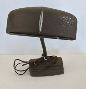 Mid Century Modern Gooseneck Cast Iron Task Desk Lamp Brown Industrial