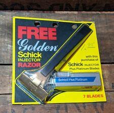 Vintage NOS Golden Schick Injector Safety Razor P348D01 18K GP w/ 7 Blades - NEW