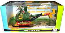 Britains Deetail # 9761 Hughes U.S. Army Helicopter painted metal w/ crew - MIB