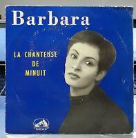 BARBARA LA CHANTEUSE DE MINUIT Très RARE SON 1ER 45T EP 1958 PATHE 7 EGF 339
