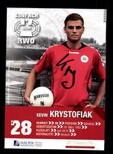 Kevin Krystofiak Autogrammkarte Rot Weiss Oberhausen 2013-14 Original +A 159640