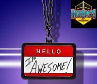 WWE The Miz Hello Im Awesome Pendant, necklace Mike Mizzanin MTV ECW TV Mizdow