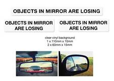 Objects in mirror are Losing stickers 3 pack quality water and fade proof vinyl
