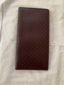 Salvatore Ferragamo Gancini Red Night Debossed Large Bi-fold Check Wallet