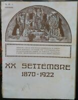 1870 - 1922 CILE :EMIGRANTI ITALIANI COMMEMORANO BRECCIA DI PORTA PIA VALPARAISO