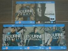 Jason Bourne collection (5 Blu-rays) steelbook. NEW & SEALED. UK release.